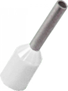 white cord end electrical connector
