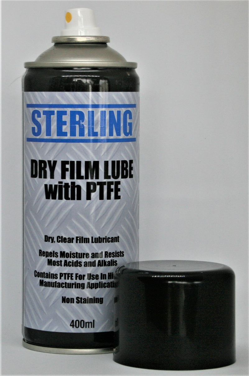 dry film lubricant with ptfe spray can