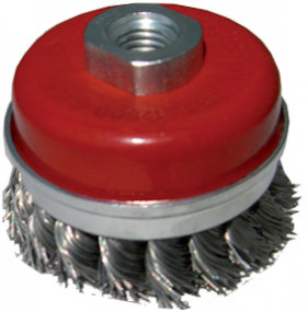 Cup Brush Twist Wire (70mm diam) M10 Thread