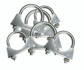 assorted collection of exhaust clamps 29mm to 45mm