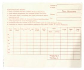 Pack of Tachograph Envelopes (100)