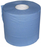 roll of blue paper tissue