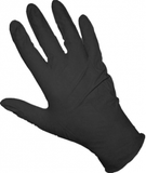 black nitrile glove size medium