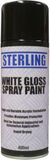spray can of white gloss paint