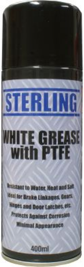 can of white grease spray/ aerosol