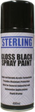 spray can of black gloss car paint