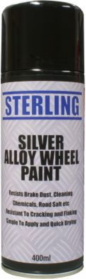 can of silver alloy wheel spray paint