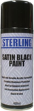 spray can of black satin paint