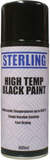 High temperature black spray paint for cars