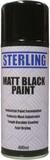 spray can of matt black paint