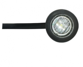 LED, Amber Button Lamp (clear)