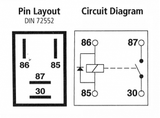 Micro Relay 4 Pin, 12v 20A | w/ Diode