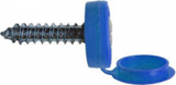 Number Plate Screws Hinged Flip Top - Blue