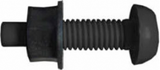 black number plate screw and nut
