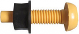 yellow number plate screw and nut