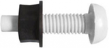 white number plate screw and nut