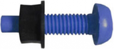blue number plate screw and nut