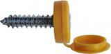Number Plate Screws Hinged Flip Top - Yellow