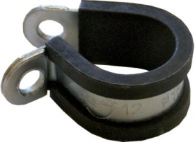 Rubber-Lined P-Clips 6mm (50)