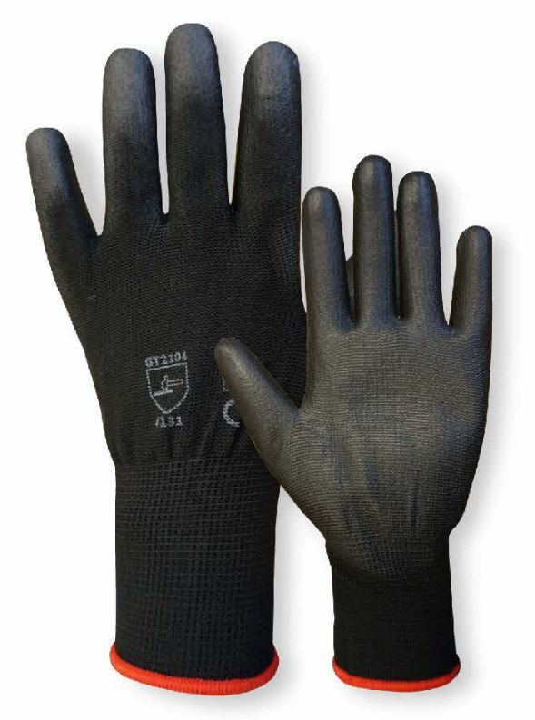 pair of pu coated gloves