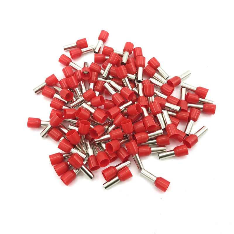 pack of red cord end electrical connectors