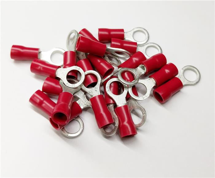 10.5mm red ring terminals - pack of 100