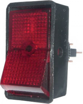 Rocker Switch 16A - Red