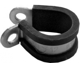 Stainless Steel, Rubber-Lined P-Clips 8mm (25)