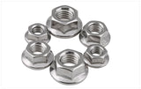 pack of steel flanged nuts