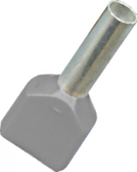 grey twin cord end electrical connector