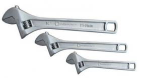 "Set of 3 Adjustable Wrenches (6"",8"",10"")"