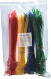 Coloured Cable Ties - 200 Pack