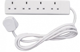 Cable Extension Socket 4 way 13A x 2m