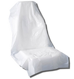 white disposable car seat cover