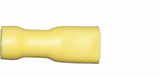 Yellow Female Spade 6.3mm Fully Insulated Electrical Connectors | Qty: 100