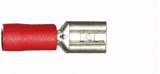 Red Female Spade 4.8mm Electrical Connectors | Qty: 100