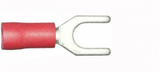 4.3mm red fork electrical terminal
