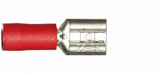 Red Female Spade 6.3mm Electrical Connectors | Qty: 100