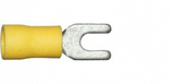 3.7mm yellow fork electrical connector