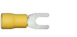 4.3mm yellow fork electrical terminal