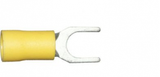 6.4mm yellow fork terminals