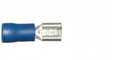Blue Female Spade 4.8mm Electrical Connectors | Qty: 100