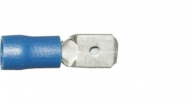 Blue Tab Male 6.3mm Electrical Connectors | Qty: 100