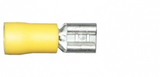Yellow Female Spade 6.3mm Electrical Connectors | Qty: 100