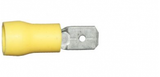 Yellow Tab Male 6.3mm Electrical Connectors  | Qty: 100