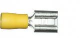 Yellow Female Spade 9.5mm Electrical Connectors | Qty: 100