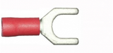 6.4mm red fork electrical connector