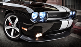 xenon headlights on a car