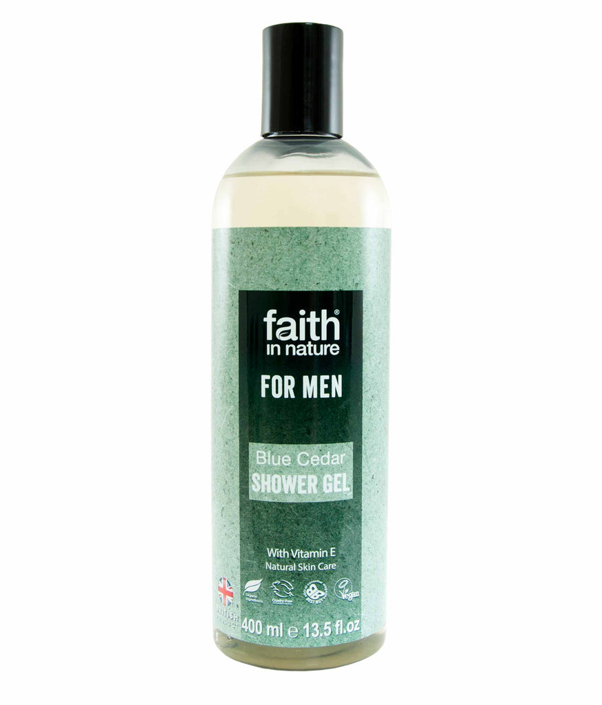 Faith In Nature - Blue Cedar Shower Gel For Men (400 ml)