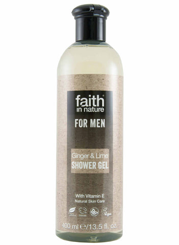 Faith In Nature - Ginger & Lime Shower Gel For Men (400 ml)